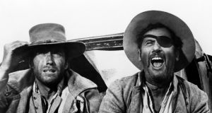 Clint Eastwood as Blondie and Eli Wallach as Tuco in 'The Good, The Bad And The Ugly'. Photograph: Silver Screen Collection/Getty Images