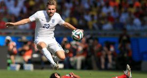 Luke Shaw is being pursued by Manchester United. Photograph:  Mike Egerton/PA Wire.