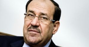 Iraqi prime minister Nouri al-Maliki has called on his nation's political blocs to close ranks in the face of Sunni militants but rejected calls for a unity government. Photograph: Brendan Smialowski/Pool via The New York Times.