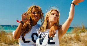 Here comes the sun: Leona Lewis, left, in Walking on Sunshine