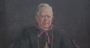 Some 14 ecclesiastical paintings and 17 books are to be auctioned by Sheppards. Above:  Portrait of Archbishop William Walsh, 1841-1921, oil on canvas, by Leo Whelan