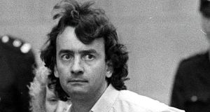 Gerry Conlon after his release from the Old Bailey, London, October 1989.  Photograph: Peter Thursfield