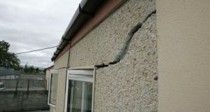File image of the kind of structural damage pyrite causes in homes. File photograph: Frank Miller/The Irish Times