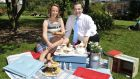 Olivia Duff  and John Healy will be running food events at the Hay Festival in Kells next weekend. Photograph: Clodagh Kilcoyne