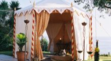 Glam camping: tent luxury from the  Indian Garden Company in England, run by Offaly woman Bernadette O'Farrell, around €3,500.