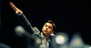 Economist Thomas Piketty speaking at the recent Tasc conference in Dublin. Photograph: Aidan Crawley