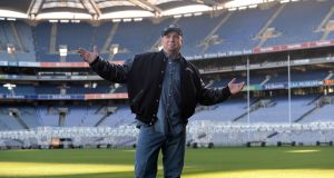 Singer Garth Brooks at Croke Park in January, where he first announced details of two concerts. The number was eventually increased to five as the concerts quickly sold out. Photograph: Dara Mac Dónaill/The Irish Times