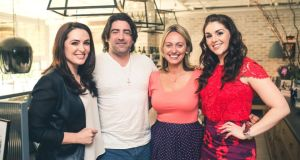 Gráinne Seoige, Brian Kennedy, Clodagh McKenna and Síle Seoige at the launch of McKenna's  book