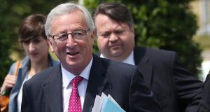 "European Commission president-elect Jean-Claude Juncker: he is eager to play down his federalist reputation, saying he is ""allergic to this term 'the United States of Europe'"". Photograph: François Lenoir/Reuters"