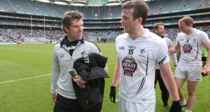Kildare manager Jason Ryan with Paddy Brophy after the win over Louth at Croke Park. Photo: Morgan Treacy/Inpho