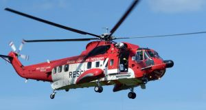 A Coast Guard helicopter was involved in the search and rescue operation. Photograph: Eric Luke/The Irish Times