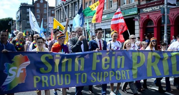 Image result for sinn fein homosexuals rainbow