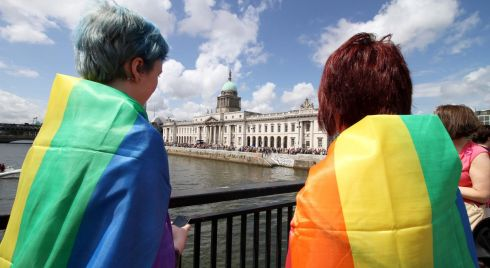 The sun shone on the capital today as thousands turned out to celebrate the city's LGBTQ community. Photograph: Nick Bradshaw/The Irish Times