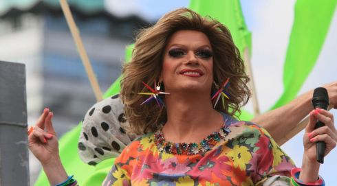 Panti Bliss: 'If I was straight I would be raging... look how much fun it is being gay.' Photograph: Nick Bradshaw/The Irish Times