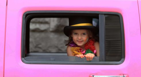 Four-year-old Millie Clarke from Swords at Dublin Pride Parade.  Photograph: Nick Bradshaw/The Irish Times