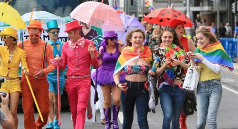 Around 70 different groups participated in the annual colourful celebration of the LGBTQ community. Photograph: Nick Bradshaw/The Irish Times