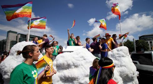 A dozen floats took part in Dublin Pride Parade. Photograph: Nick Bradshaw/The Irish Times