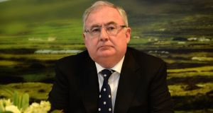 "Minister for Communications, Energy and Natural Resources Pat Rabbitte: ""If Germany, France and Britain are not undergrounding, is it reasonable for people to expect us to do so?""  Photograph: Dara Mac Dónaill/The Irish Times"