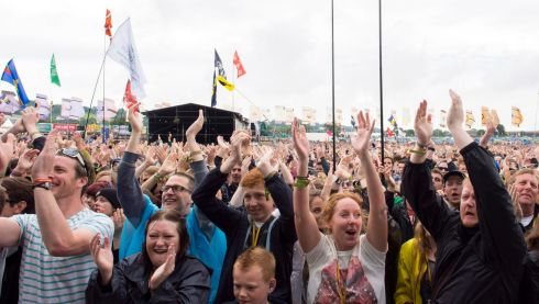 Rapturous reception for Kaiser Chiefs.  Photograph: Matt Crossick/PA Wire
