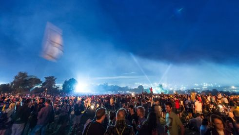 Hordes of punters there on the first day of  Glastonbury. Photograph: Ian Gavan/Getty Images