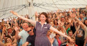 Sophie Ellis Bextor wows fan at Westport Festival at the weekend. Photograph: Tony Kinlan