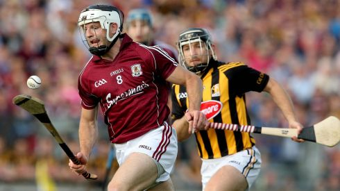 Galway's Andrew Smith and Richie Hogan of Kilkenny. Photograph: James Crombie/Inpho