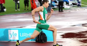 David Gillick seen here in action for Ireland has retired from athletics. Photograph:  Ian MacNicol/Inpho