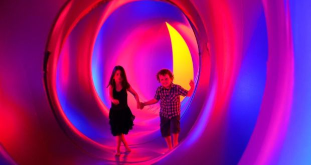 Tom And Aisling Brennan In The Amococo A Luminarium At Spraoi Waterford