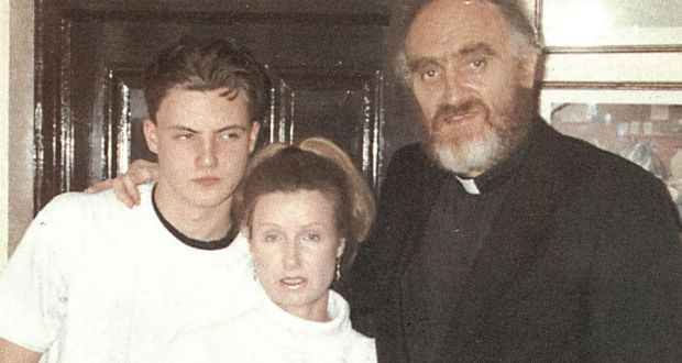 Fr Michael Cleary with Phyllis Hamilton and their son Ross