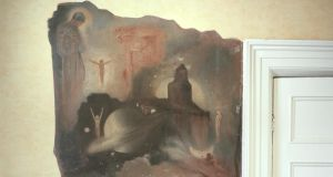 A detail of one of Dorje de Burgh's photographs of George Russell's mural