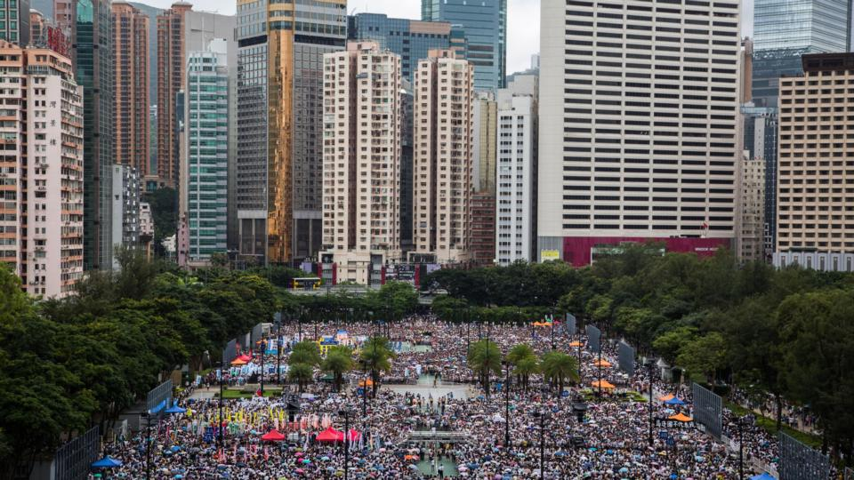 Massive Hong Kong democracy march against Beijing rule