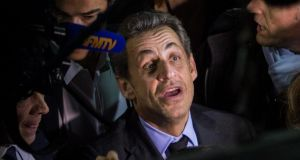 Former French president Nicolas Sarkozy: Under French law, he can be detained for 48 hours. Photograph: EPA/Ian Langsdon