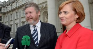 Minister for Health James Reilly with Children's Hospital Group chief executive Eilish Hardiman at Government buildings last year. Photograph: Brenda Fitzsimons/The Irish Times