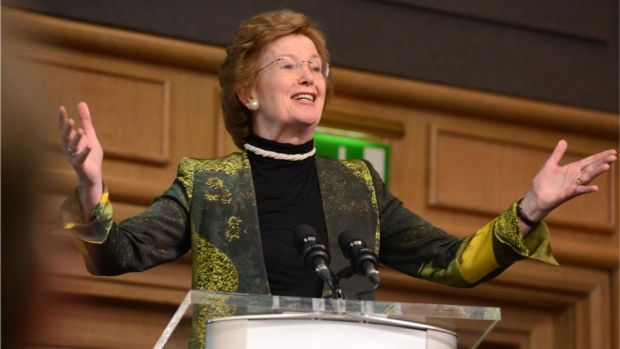 Women caught in conflicts are too often seen only as victims when they are also positive agents for change, UN Special Envoy for the Great Lakes Region Mary Robinson has said. File photograph: Dara Mac Dónaill/The Irish Times