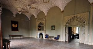 A reception room in Charleville Castle, Tullamore, Co Offaly. Photograph: James Flynn/APX