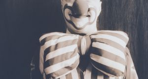 Clown in stripes. Photograph Getty Images