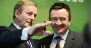 Taoiseach Enda Kenny,with Colm Lyon, CEO Realex Payments. Photograph: Alan Betson