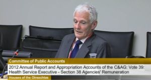 Former chairman of the Central Remedial Clinic (CRC) Hamilton Goulding has said his board was effectively dismissed at a few hours notice last December. Screengrab: Oireachtas
