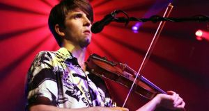 Mean fiddler: Owen Pallett performing in London. Photograph: Burak Cingi/Getty Images