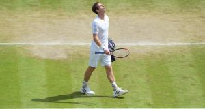 Andy Murray's exit from Wimbledon has influenced ticket sales.   Photograph: Facundo Arrizabalaga