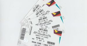 Garth Brooks tickets. Photograph: Collins Photos