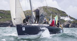 Scottish entry Tanit, skippered by Richard Harris, during the Round Ireland Race. Photograph: David Branigan/Oceansport