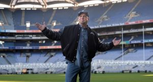Garth  Brooks, in Croke Park, Dublin. Photograph: Dara Mac Dónaill