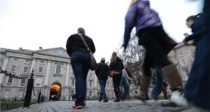 Trinity College Dublin is revising its admissions policy to make it easier for Northern Ireland students to gain entry. Photograph: Dara Mac Dónaill/The Irish Times.