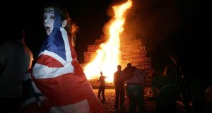 Act of loyalty: bonfire on the Shankill Road. Photograph: Christopher Furlong/Getty