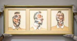 Three Studies for Portrait of George Dyer by Francis Bacon, sold in London for £26.7 million (€33.6m)