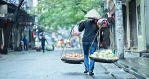 Daily life in Hanoi old town. Photograph: Getty