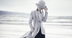Shot from Boo George's latest campaign for Emporio Armani shot on Dollymount strand