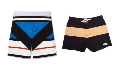 Panelled bermuda shorts, €550, Givenchy at mrporter.com Grant Trunk, €75, Saturdays NYC at Indigo and Cloth