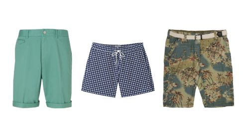 Blue Harbour Chino Shorts, €30, M&S Check Swim Short, €45, COS Floral Belted Short, €15.00, Penneys